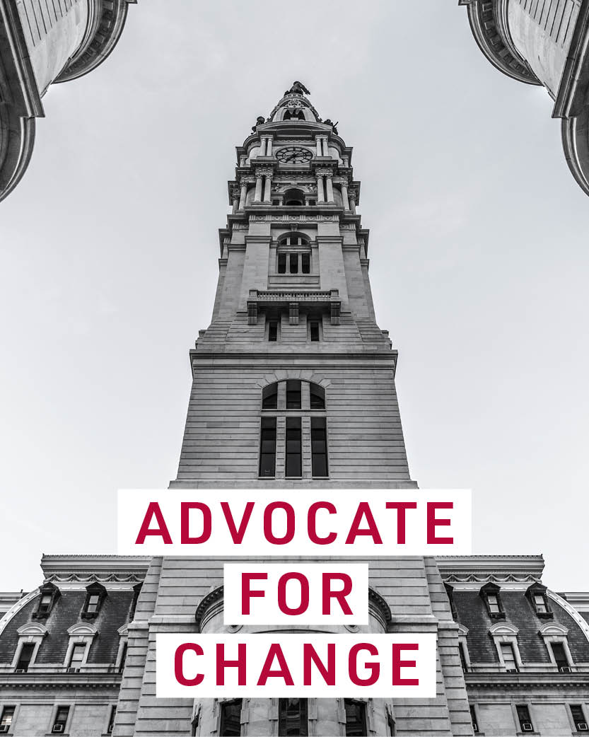 Advocate for change.