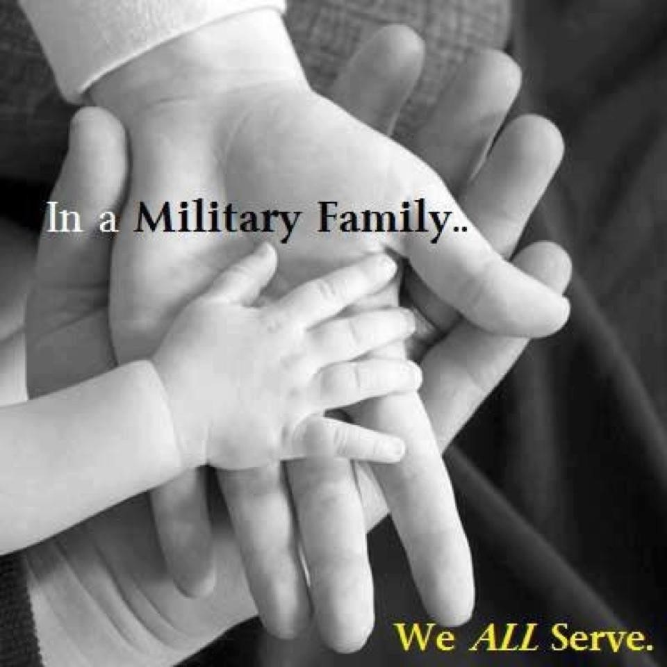 Military Family Hands