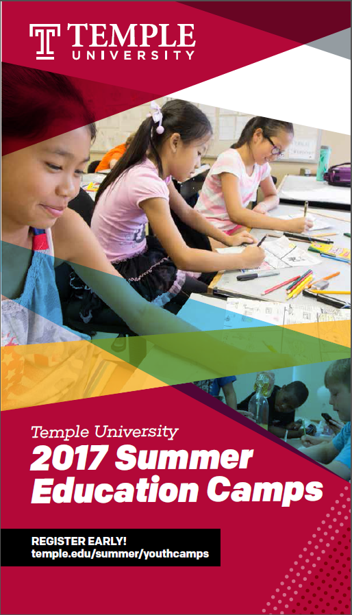 Cover of 2017 Catalog of Summer Camps at Temple University Ambler